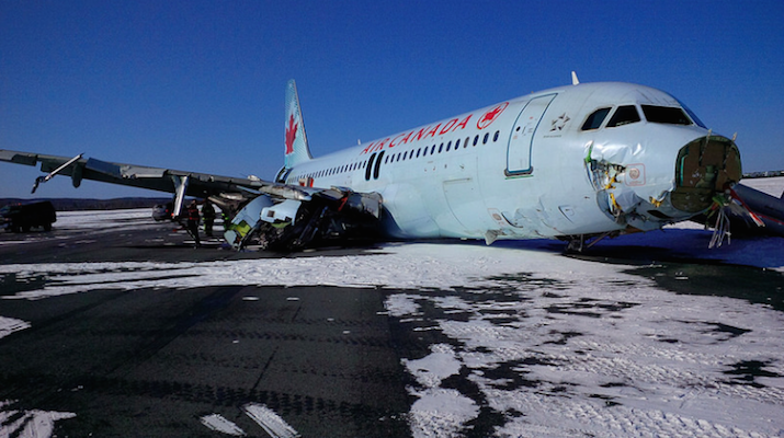 This plane didn't crash at Peggy's Cove. It crashed at the airport.