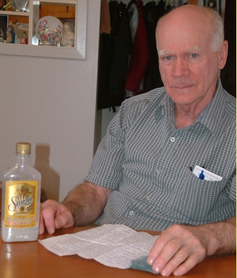 Norman MacDonald, drinking with Gary Robert Dupuis. Photo: Rankin MacDonald / Inverness Oran