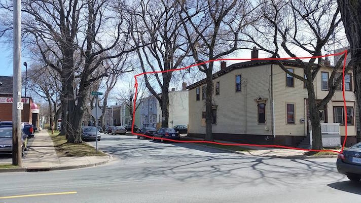 The south side of McCully street. Parsons notes that he's not sure if the green house is included in the demolition plans. Photo: Chris Parsons