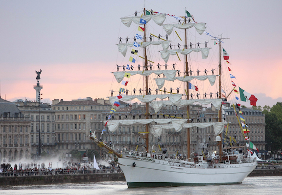 The Cuauhtemoc will be tied up at Cable Wharf today.
