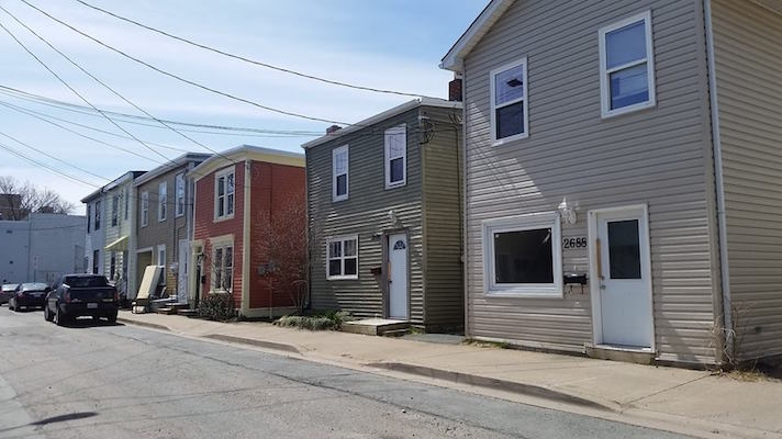 All of these houses on Fern Lane are planned to be razed. Photo: Chris Parsons
