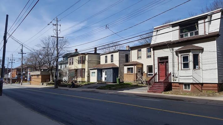 All of these houses on the north side of North Street, and the animal hospital on the corner of Robie Street (at the far left) are planned to be razed. Photo: Chris Parsons