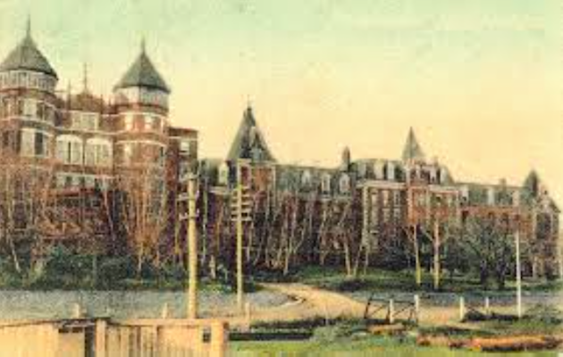 A 1901 postcard showing the Mount St. Vincent - Motherhouse, which was destroyed by fire in January 1951.