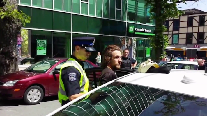 James Currie was arrested last June. Photo: YouTube