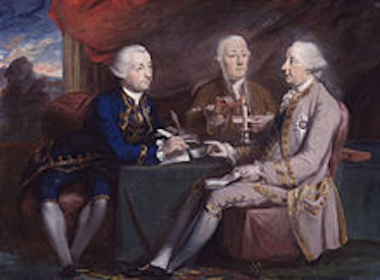 Lord Halifax and his Secretaries by Daniel Gardner (Image from Wikipedia)