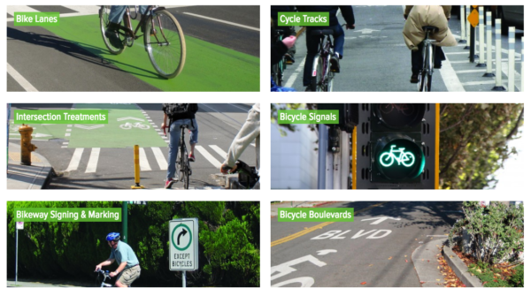 NACTO's Urban Bikeway Design Guide covers the bases from signals to cycle tracks.