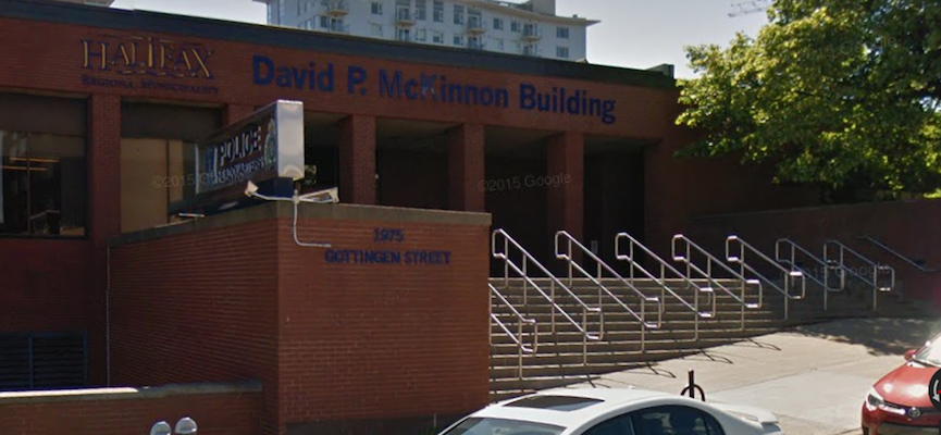 A man died at the Halifax police headquarters Thursday morning. Photo: Google Street View