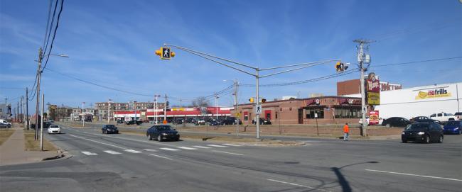 Wyse Road, near the McDonald Bridge, today.