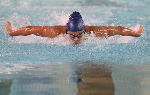 Jade Hannah competes in the 50m butterfly at the 2016 Ken Dunn Long Course Championships at the Dalplex in July. Photo: Ryan Taplin / Local Xpress