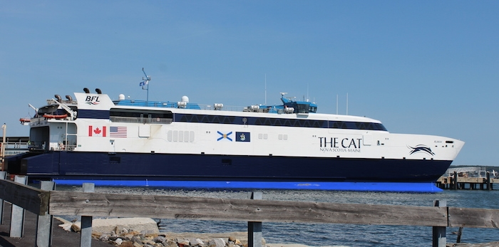 A photo of the Alakai, the ship used for the Yarmouth ferry.