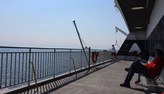 The rear deck of the Akalai. Photo: Halifax Examiner