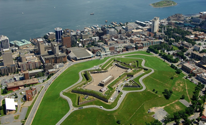 Citadel Hill and downtown Halifax before the Borg landed.