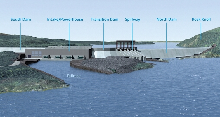 A Nalcor Energy schematic of the Muskrat Falls project.