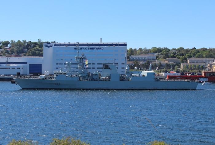 HMCS Fredericton, Canadian frigate. Photo: Halifax Examiner