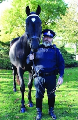 Ponair the police horse. Not a technologically advanced weapon.