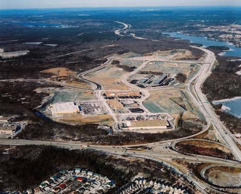 The first stage of construction of Dartmouth Crossing. Photo: greentreepm.ca