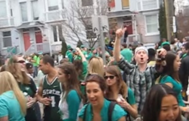 Real Canadians partying on real Canadian holiday St. Patrick's WOOOOOO Day. Image from cbc.ca