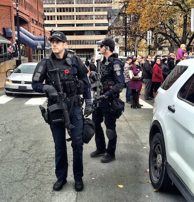 Remembrance Day at Grand Parade. Photo: John Wesley Chisholm