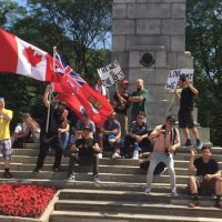 Canada's most notorious white supremacist shows up in support of 'Halifax Five'