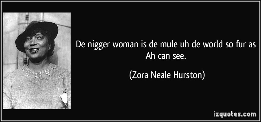 the theme of opression in how it feels to be colored me by zora neale hurston and underground