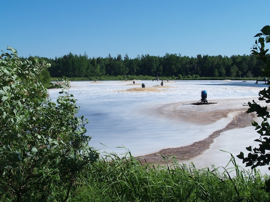 The aeration pond at Boat Harbour.