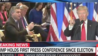 The president versus the press. Or should that be the president thanks the press?