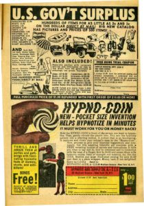 Vintage comic book ad