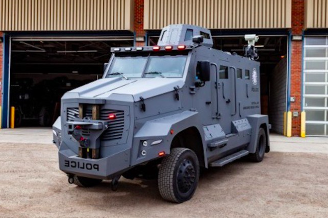 Police armoured vehicle