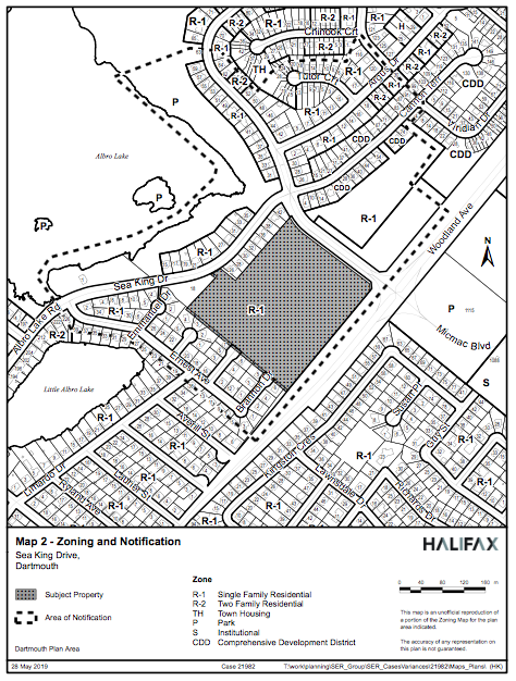 Map of a proposed development