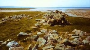 Piles of stone