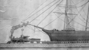Drawing of the ship railway