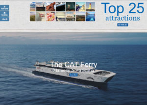 Desktop version of Tourism NS website, featuring the CAT.