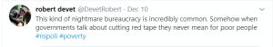 Tweet from Robert Devet