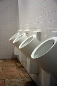 A row of urinals