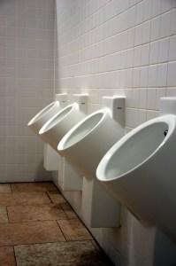 A row of urinals
