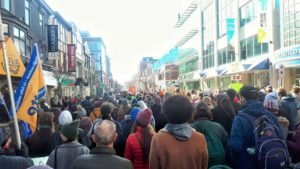 Demonstrators on Spring Garden Road