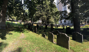 Headstones at the Old Burying Ground in Halifax