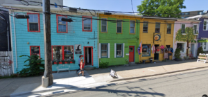 Colourful buildings on Queen Street