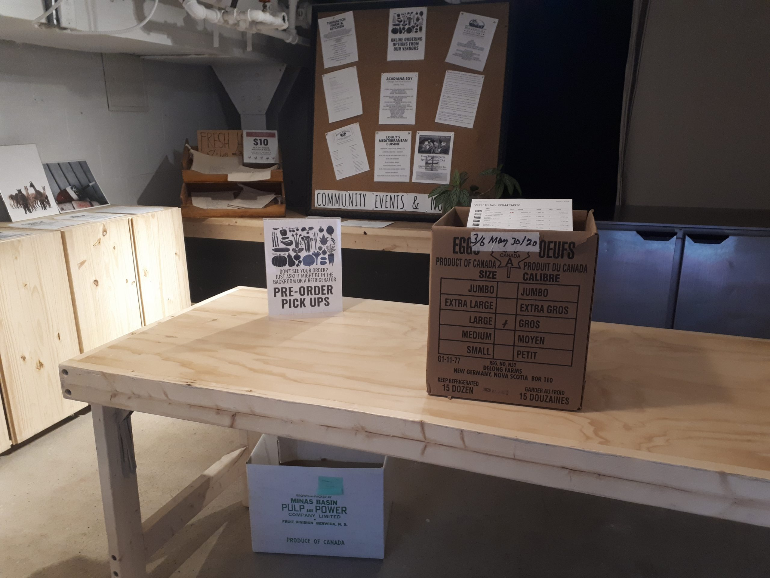 Food box on a table.