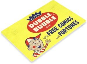 Vintage tin sign for Dubble Bubble gum
