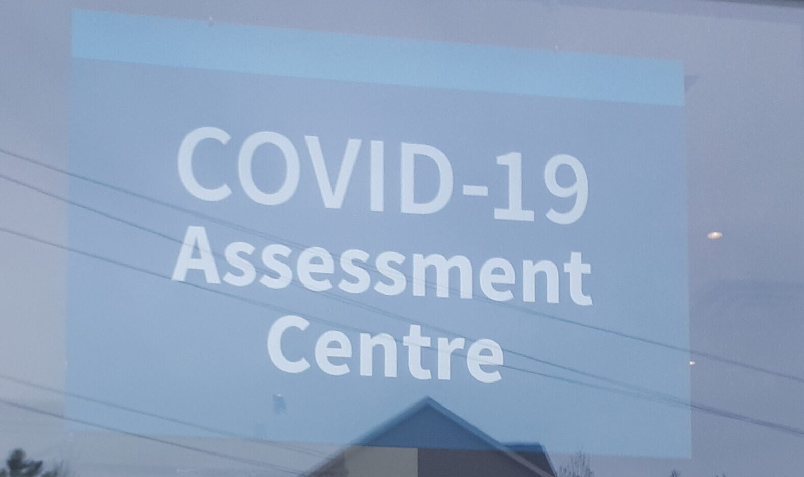 Sign for COVID-19 testing centre