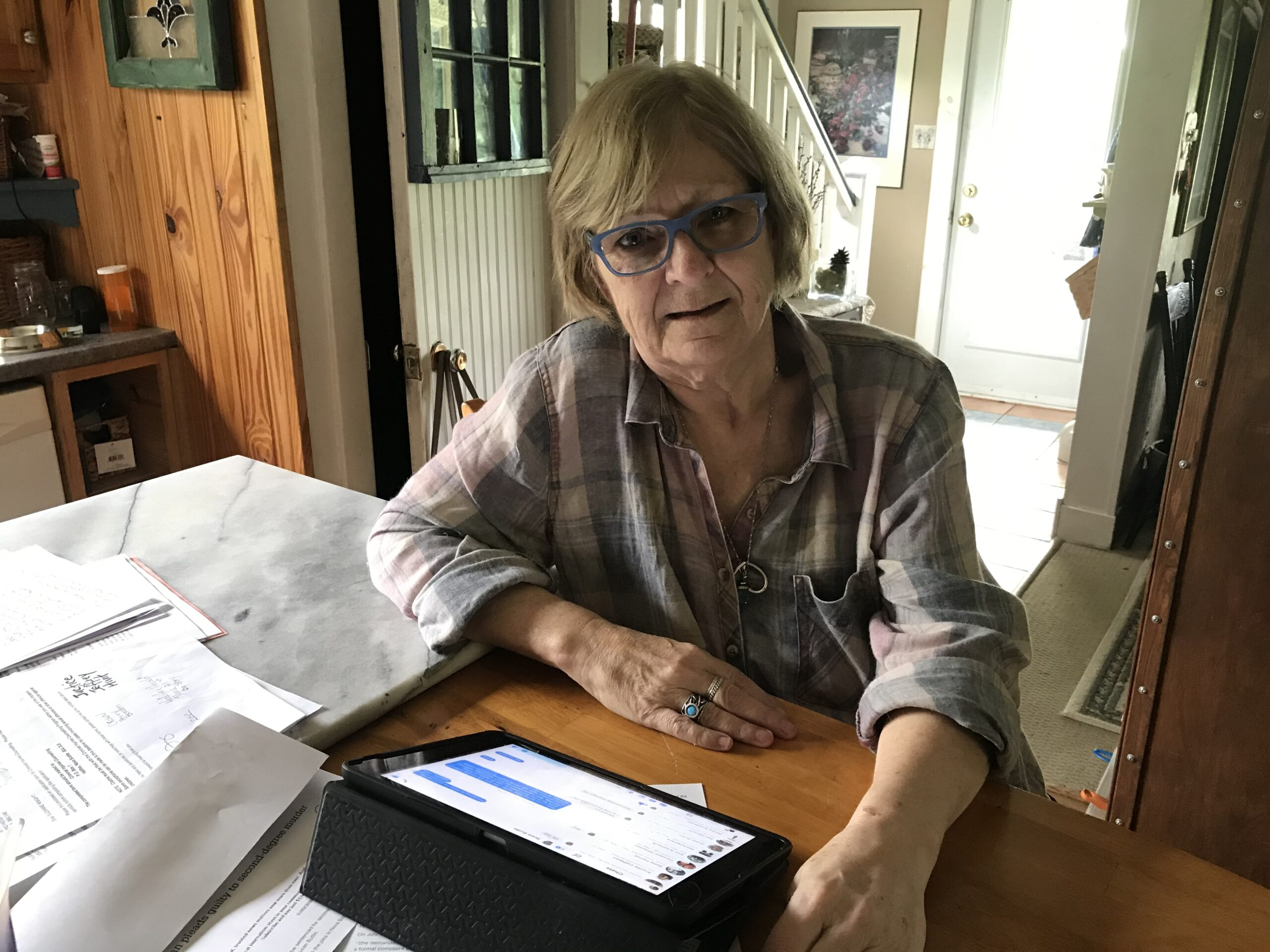 Suzanne Davis still has her Facebook chat messages with her late friend, Susie Butlin, on her Ipad.