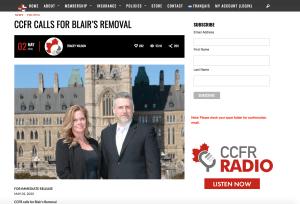 CCFR website Tracey Wilson and Rod Giltaca