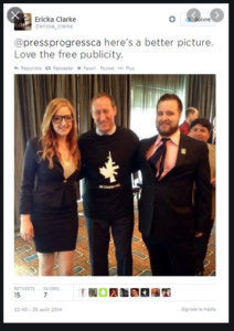 Peter MacKay in NFA t-shirt