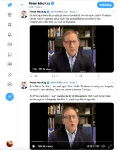 Peter MacKay tweet on gun ban