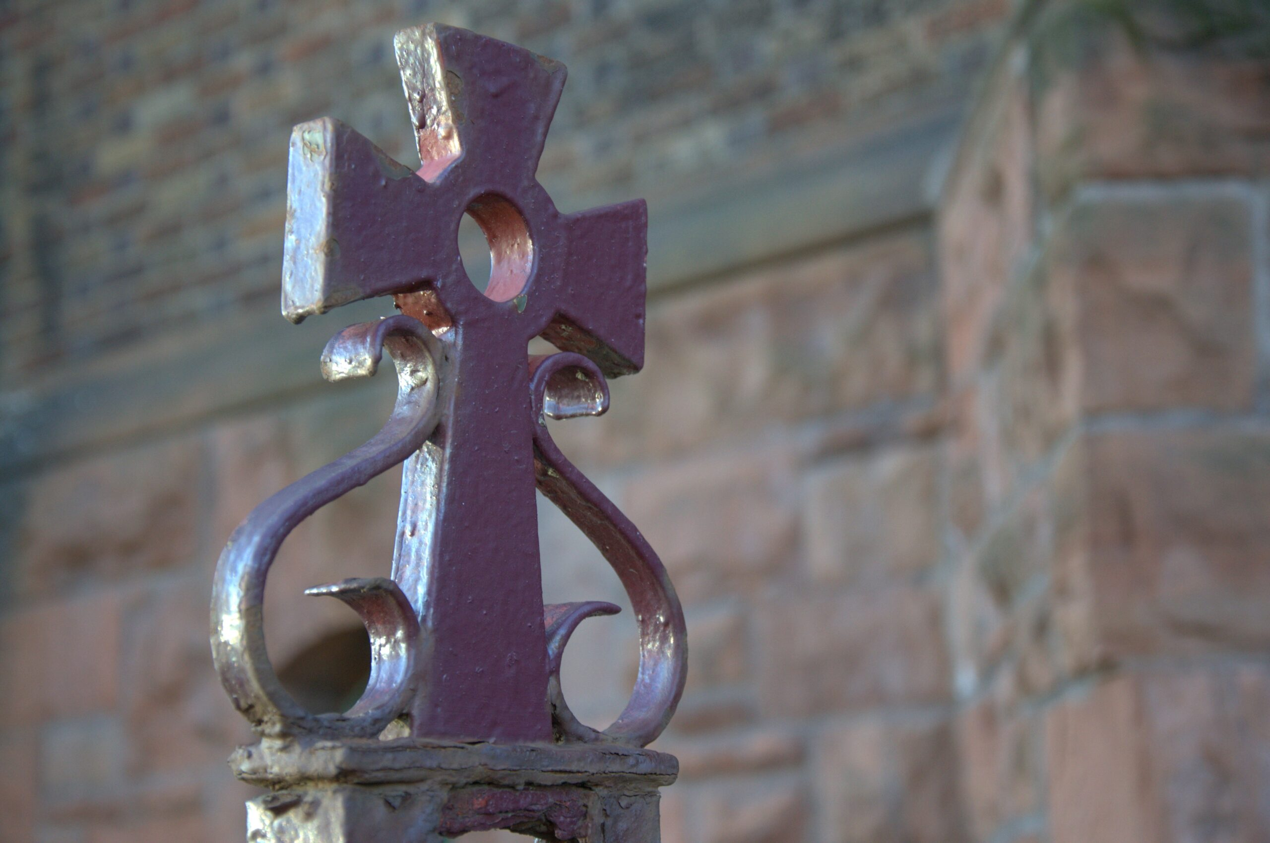 Cross outside a church