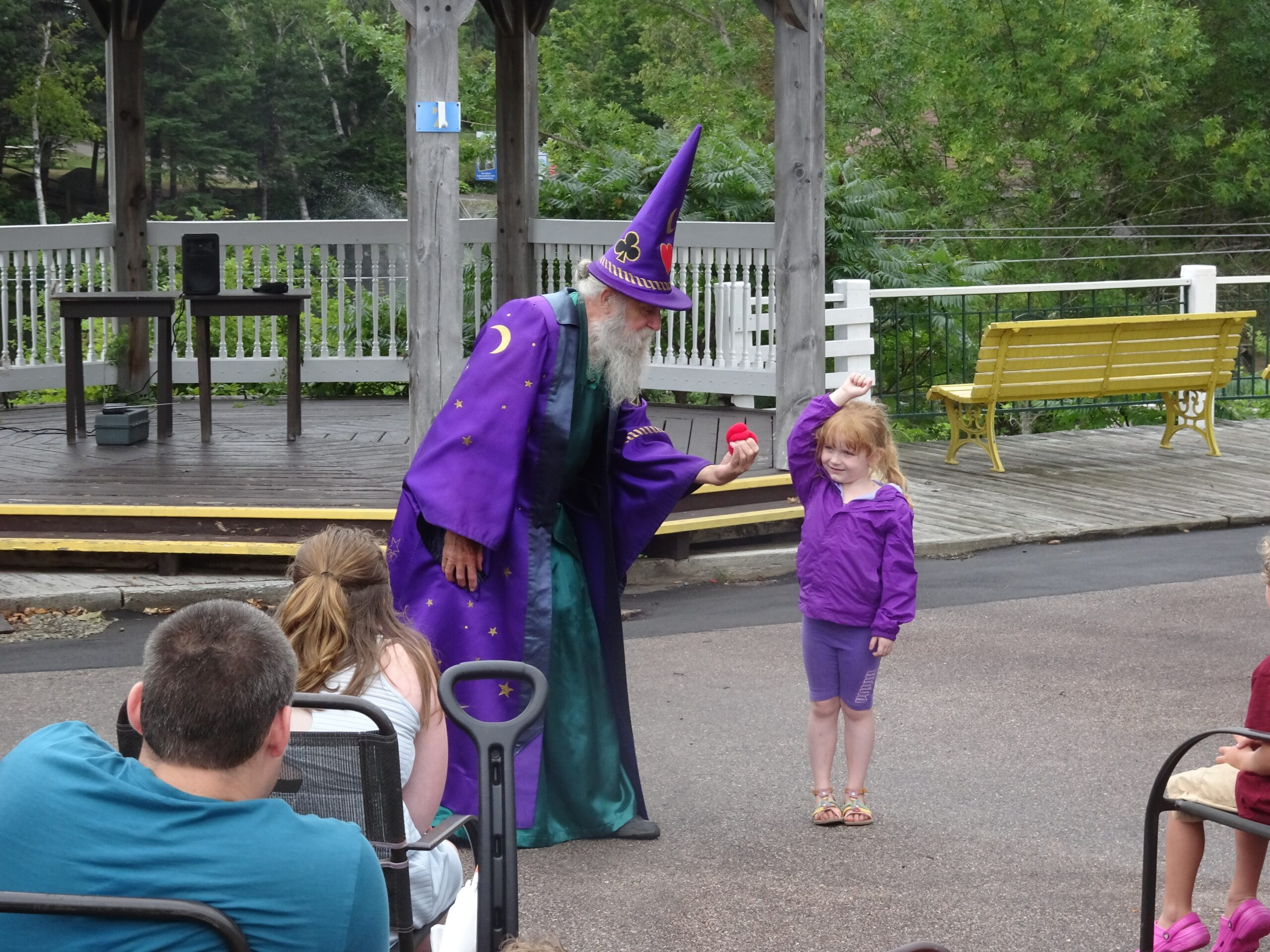 Children's magician in a wizard outfit