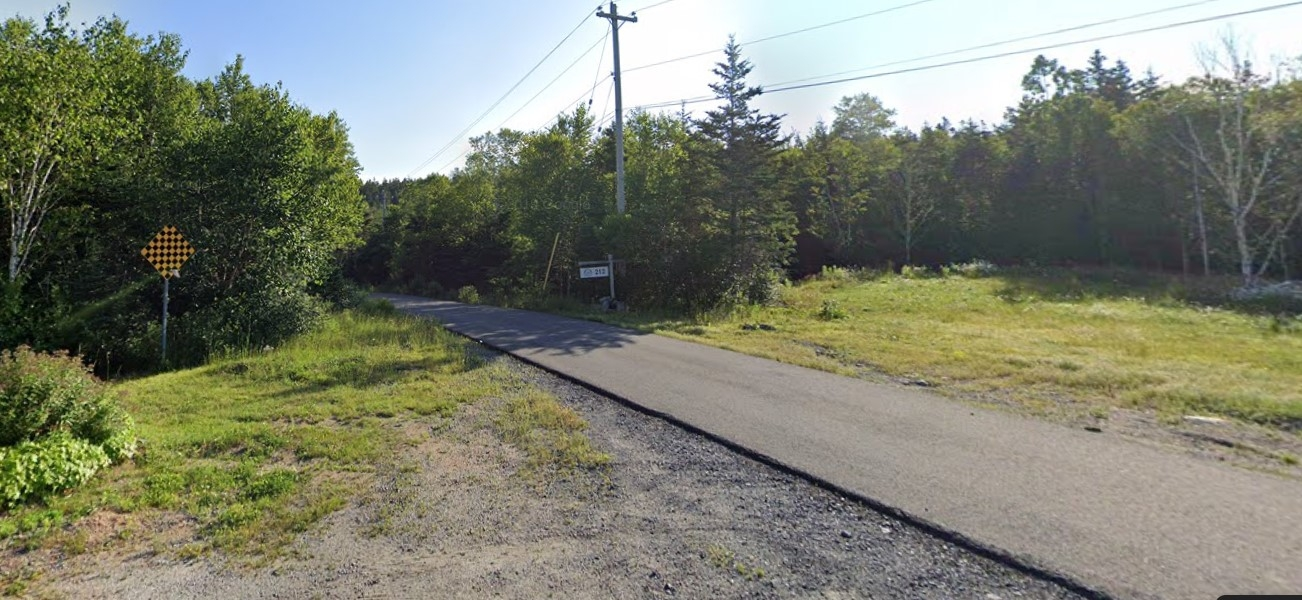 Streetview image of a country road