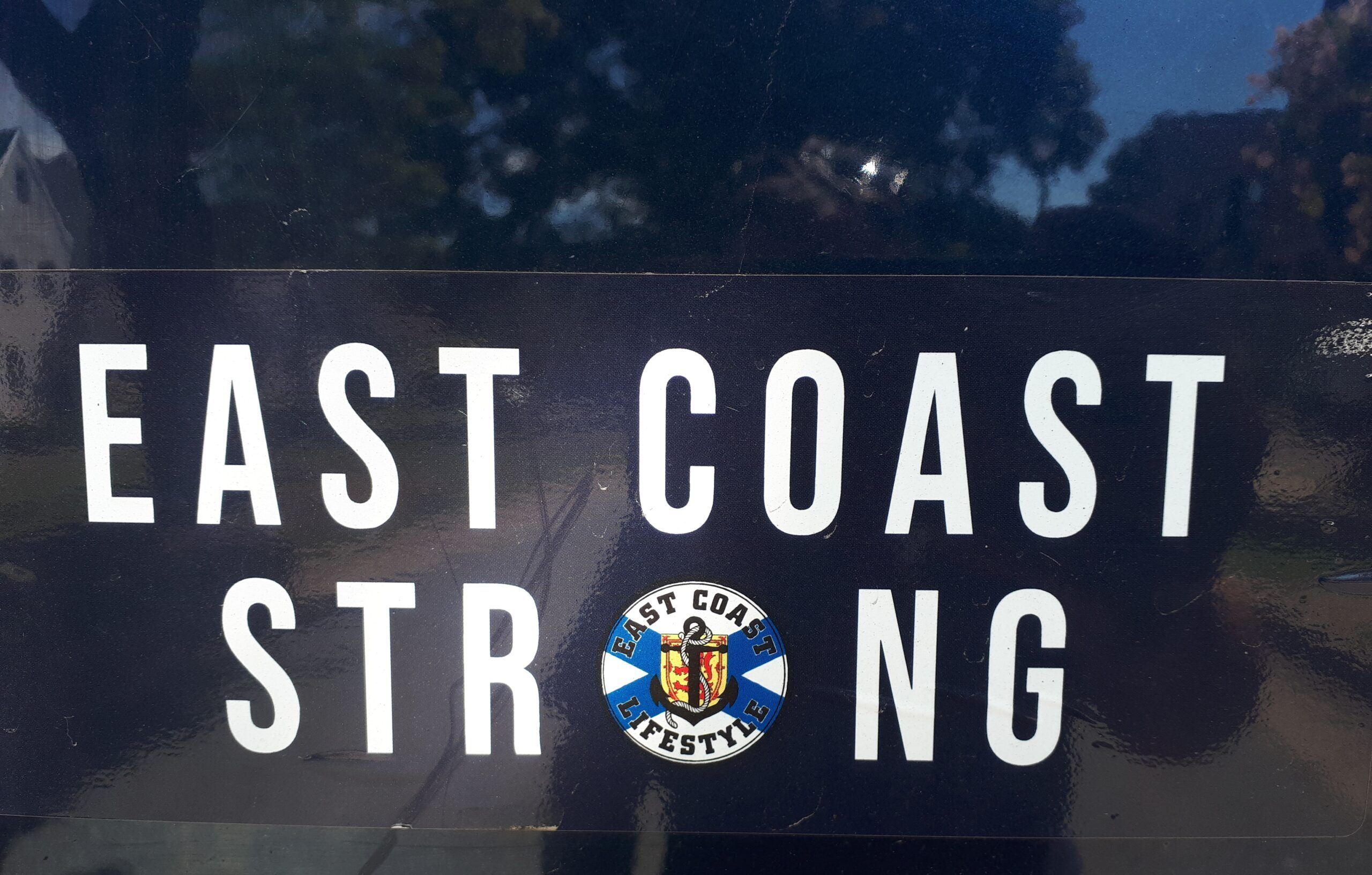 Sticker that says East Coast Strong