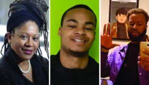 Photos of Delvina Bernard, Trayvone Clayton, and André Anderson